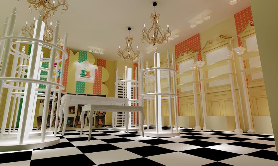 设计思路: 贝乐鼠童装品牌的形象设计采用欧洲复古的liberty风格为